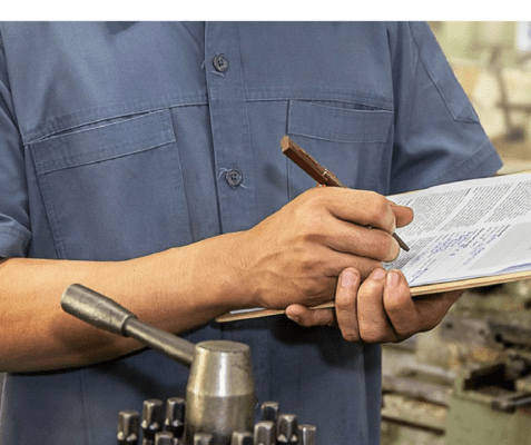 Moduli di carta in fabbrica per monitorare un collaudo