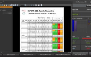 Schermata di un software realizzato per HMI