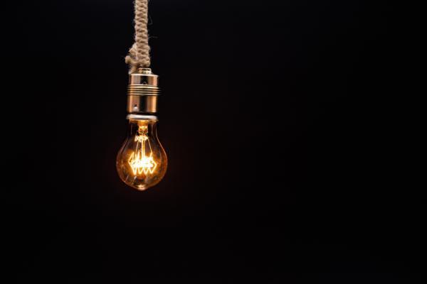 Immagine di lampadina ad incandescenza