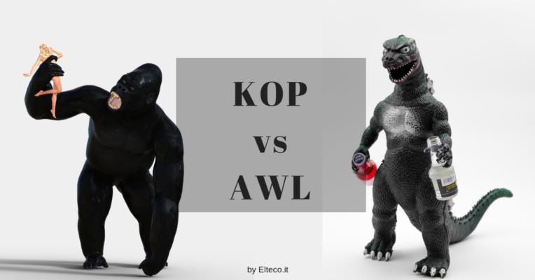 Kop e AWS : illustrazione GODZILLA contro Kong