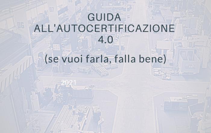 Autocertificazione 4.0